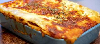 Recetas para cocinar al microondas: lasaña crijiente de jamón