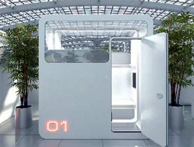 Mini hoteles en aueropuertos: Sleepbox.