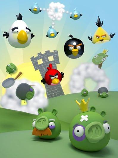 El popular juego Angry Birds para teléfonos móviles.