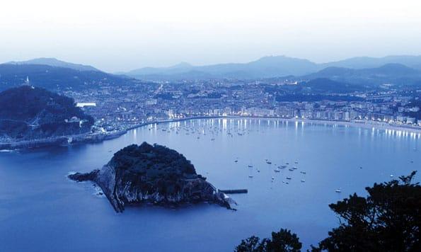 Vista panorámica de San Sebastián, en el País Vasco.