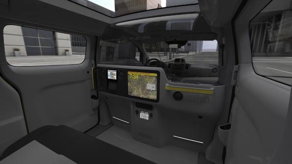 Interior del futuro taxi de Nueva York.