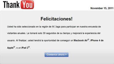 Nuevo fraude usando la imagen de YouTube ante una supuesta encuesta de calidad