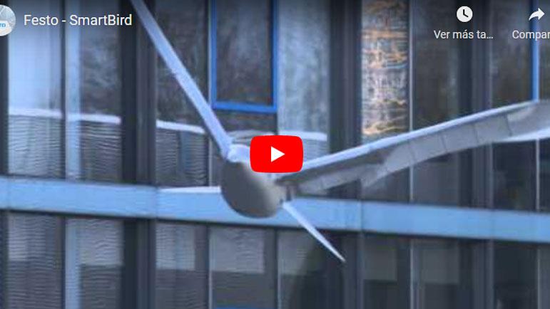 Video de un pájaro robot