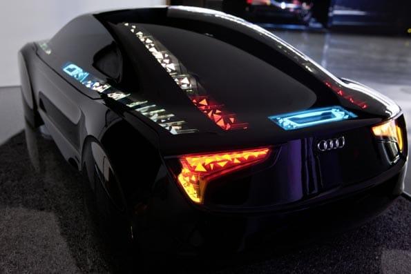 Iluminación OLED en un modelo Audi.