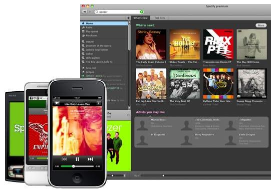 Imagen de la red musical Spotify.