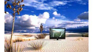 Televisor con batería para sitios con malas redes eléctricas y poca señal