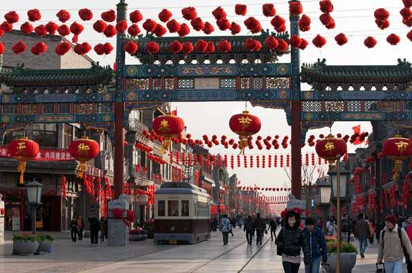 Imagen de Beijing, Pekín, en China, durante la celebración del nuevo año chino.