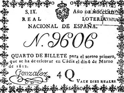 Primer décimo de la Lotería Nacional.