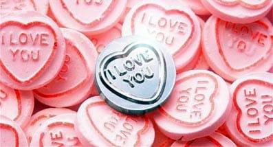 Corazones con la inscripción 'I love you'.