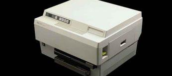 La primera impresora costaba 3.500 dólares