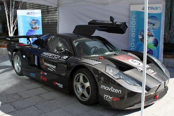 El coche español AEGT, el 'All electric GT'.