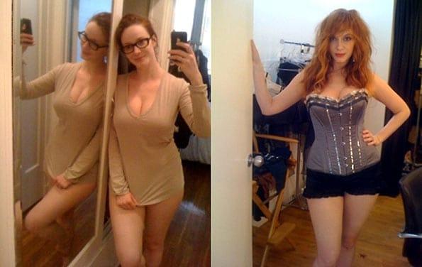Fotos robadas de Christina Hendricks, artista de la serie Mad Men.
