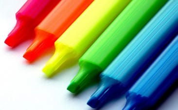 Rotuladores de colores.