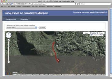 Imagen de cómo geolocalizar un smartphone Android con mensajes SMS.