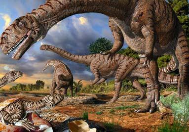 Ilustración sobre dinosaurios.