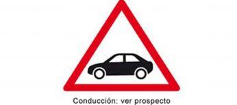 Si tomas medicamentos con esta señal, no conduzcas
