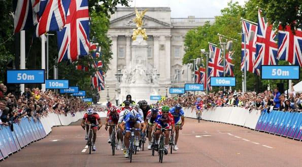 Prueba de ciclismo en Londres.