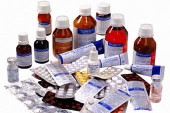 Medicinas y antibióticos.