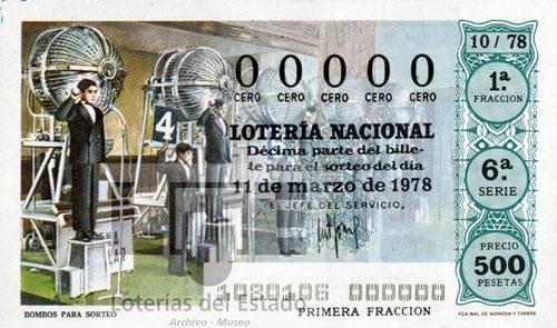 Décimo de Lotería de la exposición 'Azar e ilusión'.
