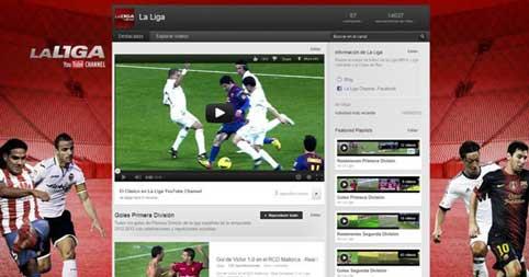 Canal La Liga que ofrece lo mejor de los partidos de fútbol en YouTube tras el acuerdo con Mediapro.