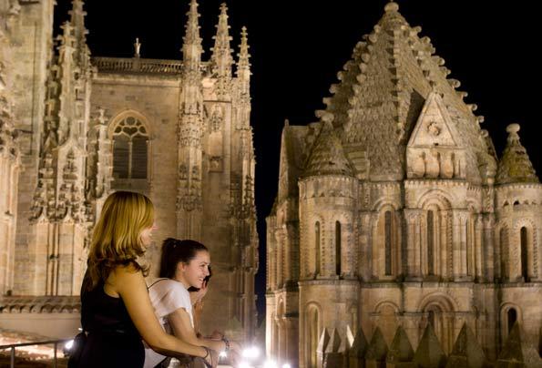 Torre de la Catedral de Salamanca, vista desde arriba.