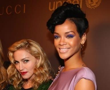 Las artistas musicales Madonna y Rihanna.
