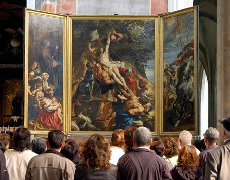 El 'Descendimiento' de Rubens, en Amberes.