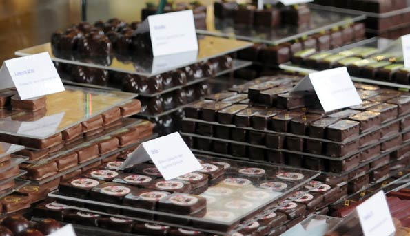 Típico chocolate belga, esta vez en forma de bombones en Amberes.