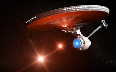 La nave Enterprise de la serie de televisión Star Trek.