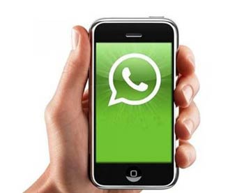 Un teléfono con Whatsapp!