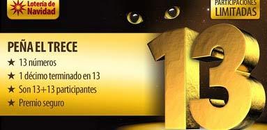 Peña el 13, que apuesta por la superstición del número gafe en la lotería de Navidad.