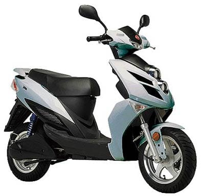 Moto eléctrica de la marca Yadea.