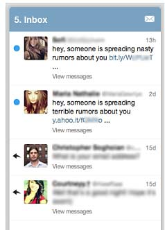 Pantallazo de phising en Twitter con la excusa de que se están propagando rumores falsos.