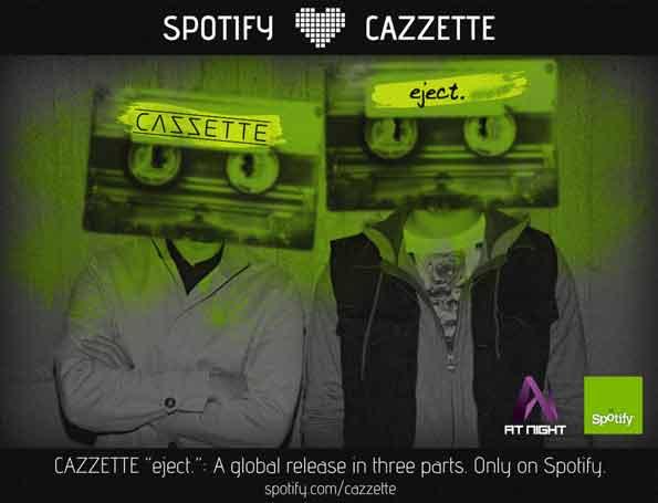 Integrantes del dúo sueco de música electrónica Cazzette, que presentan sólo en Spotify su nuevo álbum.
