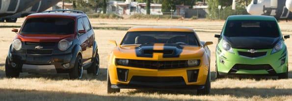 Coches Chevrolet de la película 'Transformers'.