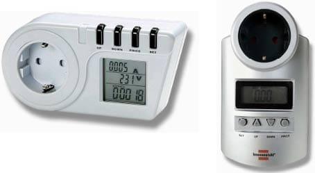 Medidores de consumo energético.
