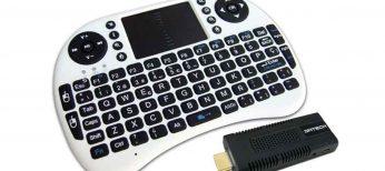 Convierte tu televisor en un dispositivo Android con este 'dongle' y teclado inalámbrico