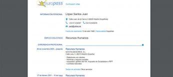 Europass, el curriculum vitae europeo con tu formación, idiomas y empleos que se convalida en toda Europa