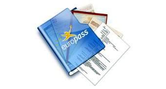 Documentos del Europass, como el CV o el suplemento al Título de profesionalidad o del Título Superior.