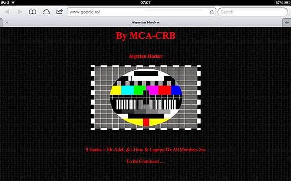 Motor de búsqueda google.ro, de Rumaniía, durante la suplantación de un hacker.
