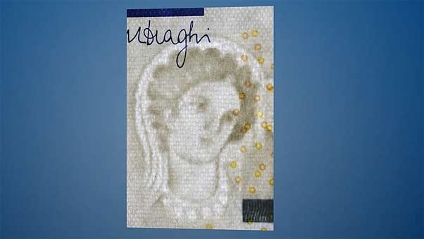 Nuevo billete de 5 euros que estará en circulación en 2013.
