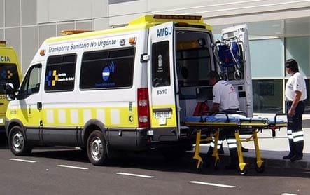 Ambulancia de transporte de pacientes no urgente, por la que se abonará entre 1,3 y 3,3 euros.