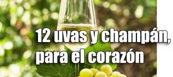 Tomar las 12 uvas de fin de año y una copita de champán es bueno para el corazón
