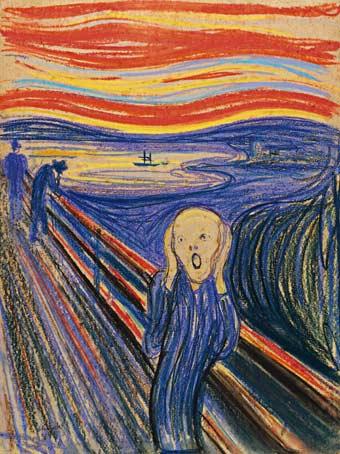 Cuadro de 'El grito', de Edward Munch.