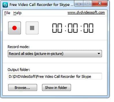 Aplicación gratis para grabar las videollamadas por Skype.