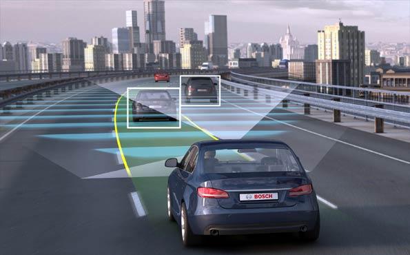 Recreación de cómo se conducirá de forma automática, según Bosch.