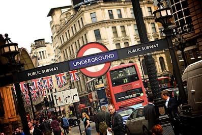 Boca de metro en Londres.