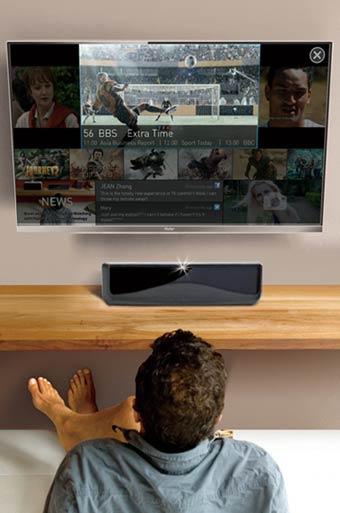 Los televisores de Haier se controlarán con los ojos, sin necesidad del mando a distancia.