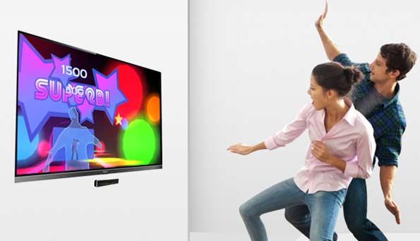 Los televisores del futuro se controlarán con los movimientos del cuerpo, sin necesidad del mando a distancia.