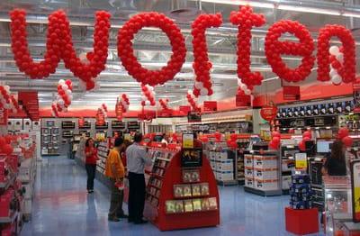 Una tienda Worten en un centro comercial.